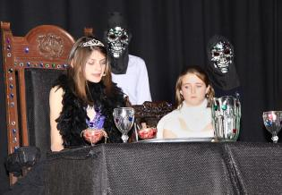 Lucy and Luciana as Hades and Persephone