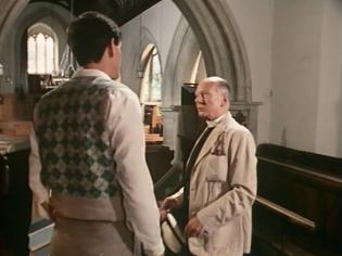 In this scene the Vicar takes his son to task for not finding worthwhile employment