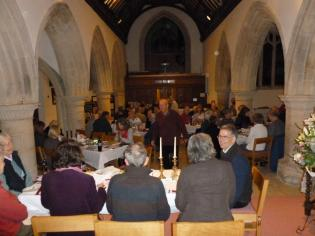 View of the meal from the East end of church